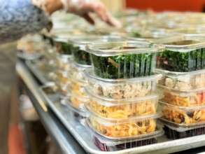 Salads being prepped to deliver to our clients!
