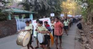 School student Rally to raise awareness .