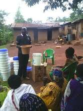 The director distributing water filters