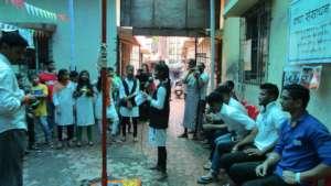 Performing street play