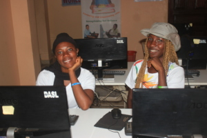Students in Computer Training