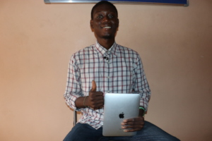 Franklyn with his iPad