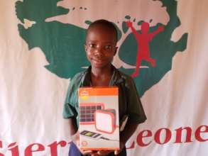 Gibrilla with his new solar light
