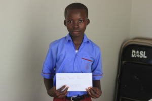 Ibrahim received a scholarship