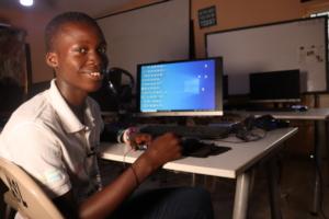 Ibrahim in computer class