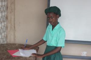 Joy is another scholarship recipient