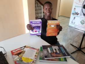 Kabba with his new textbooks