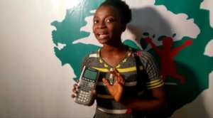Elizabeth with calculator