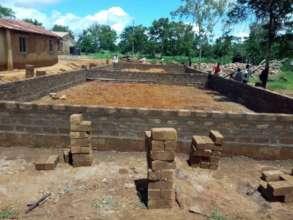 Building work underway at Mkamenyi Primary.