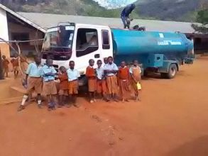 Clean water is delivered to a partner school