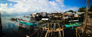 The homes of the Badjao community