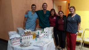 The medical team who treated 56 patients!