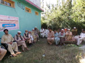 Meeting with male community on the rights of women