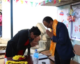 School staff thanks our partners from Maiti Nepal