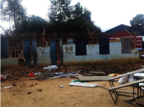 Demolition of the existing damaged school