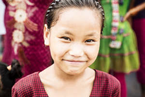 A Tamang girl poses for our camera