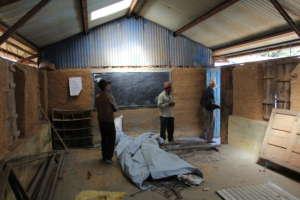 Damaged classroom of the Shree Bhumimata School