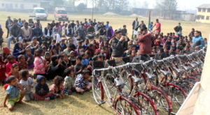 Bicycle distribution event