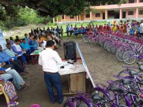 Bic-cycle gifting ceremony