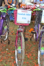 Acknowledgement of donor's name in a bicycle