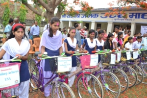 First bicycle gifting ceremony held in May, 2016
