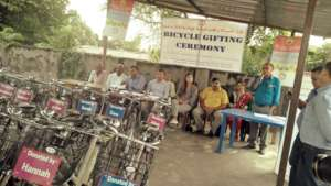 A Bicycle Gifting Ceremony held in October, 2019