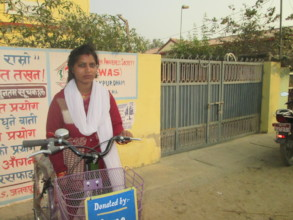 Susmita with the bicycle gifted by you