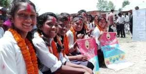 The recipient girls