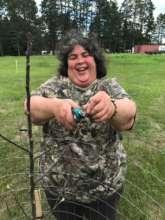 Leech Lake tribal member learning to prune!