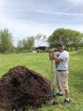 White Earth Nation orchard planting last year