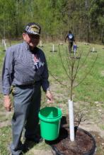 Leech Lake's newest orchard caretaker Orville