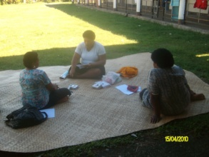 Participants discussing parenting at workshop