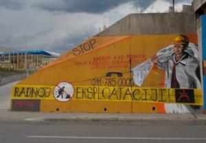 Stop labor exploitation-mural
