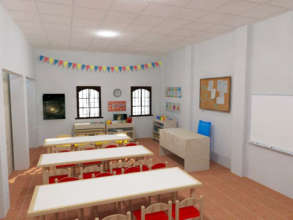 Digital Representation of a 2nd Floor Classroom