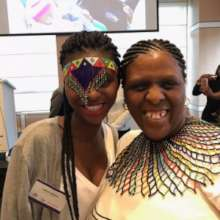 Babalwa & Anathi at an advocacy event in New York