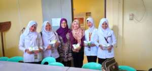 College Nursing Students with professor