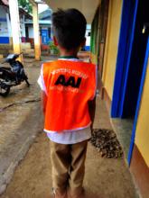 New mini-nurse wearing uniform vest from AAI