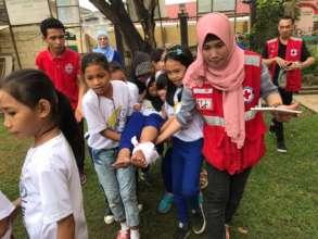 Mini-Nurses of Jolo practicing emergency relief