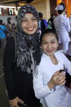 New Nursing graduate w friend at Sulu State Coll