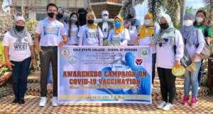 Nursing School community vaccination team