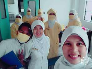 Student Nurses at SSC in operation room training