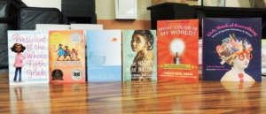 Book display at Women Summit