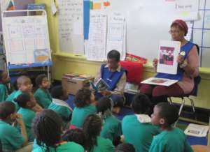 Children being mentored by UPO Foster Grandparents