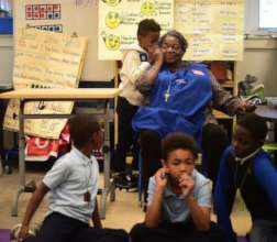 UPO Foster Grandparent tutoring DC children