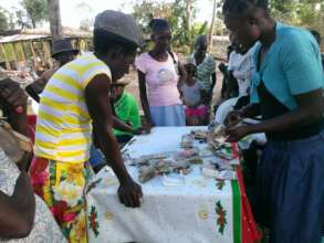 Women paying back their loans to the organization