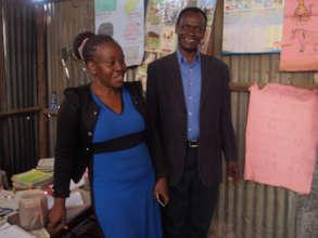 TFEDI CEO David Kimama with one of the teachers.
