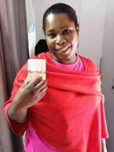 Patient receives menstrual cup at clinic