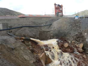 Discharge mining water goes directly into rivers