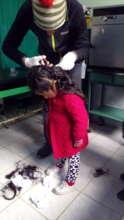 Children's hair sample
