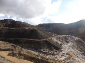 Mining waste on fresh water resource